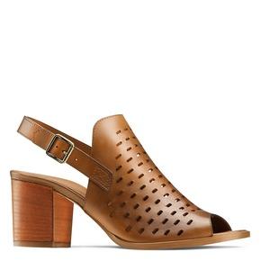 Sandali in pelle  bata, marrone, 764-3161 - 13