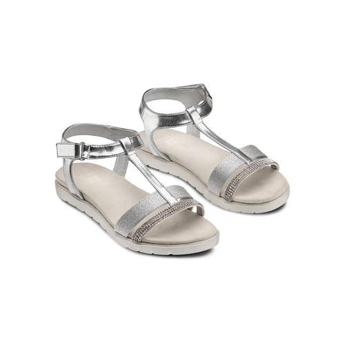 Sandali da bambina mini-b, argento, 361-1171 - 16