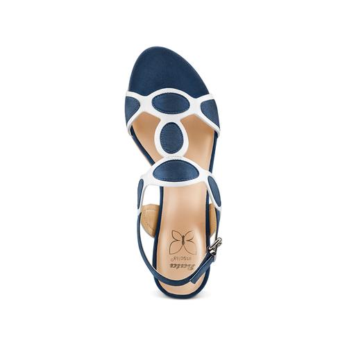 Sandali con tacco basso insolia, blu, 669-9297 - 17