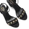 Sandali con perle insolia, nero, 769-6288 - 26