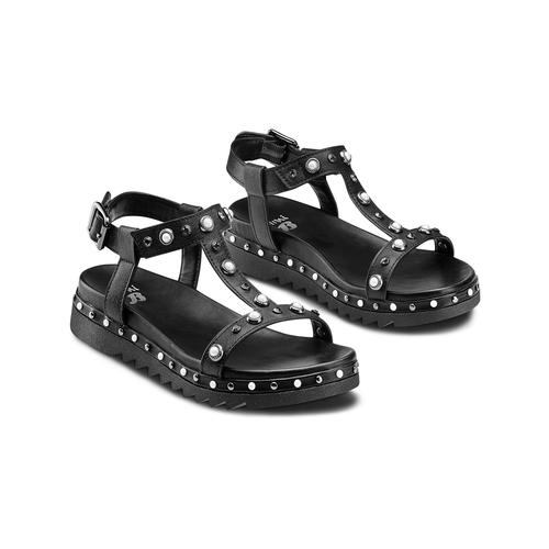 Sandali da bambina mini-b, nero, 361-6237 - 16