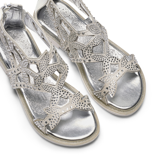 Sandali in suede mini-b, argento, 363-1247 - 26