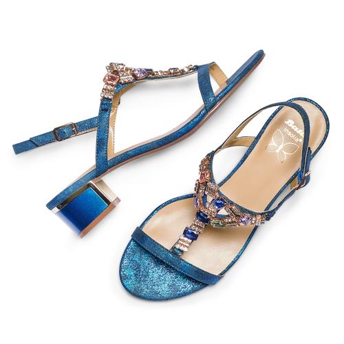 Sandali Insolia insolia, blu, 669-9148 - 26