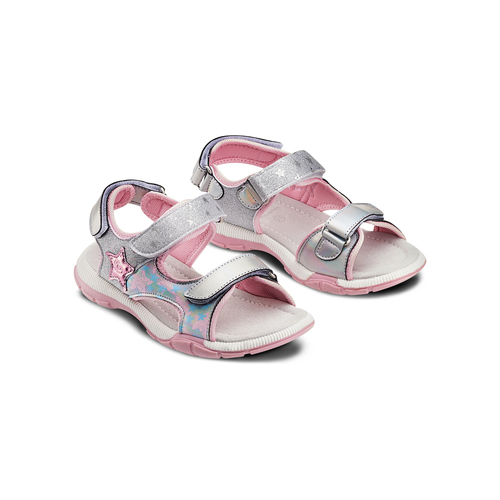 Sandali da bimba mini-b, grigio, 361-2238 - 16