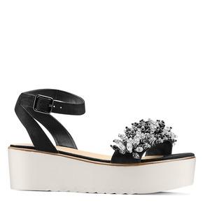 Sandali con perline bata, nero, 669-6283 - 13