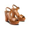 Sandali con tacco alto insolia, marrone, 761-3254 - 16
