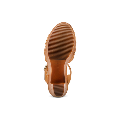 Sandali con tacco alto insolia, marrone, 761-3254 - 19