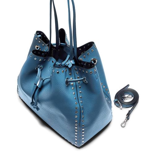 Borsa a secchiello bata, blu, 961-9314 - 17