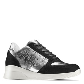 Sneakers Casual bata, nero, 523-6459 - 13