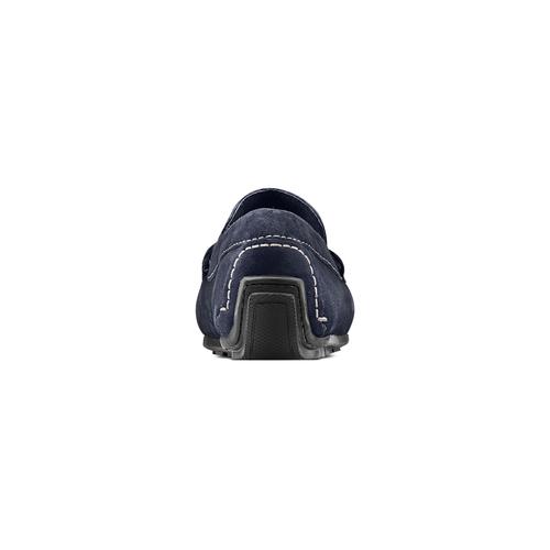 Mocassini in suede bata, blu, 853-9171 - 15
