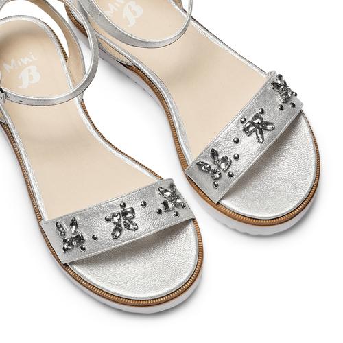 Sandali con strass mini-b, argento, 361-1236 - 26