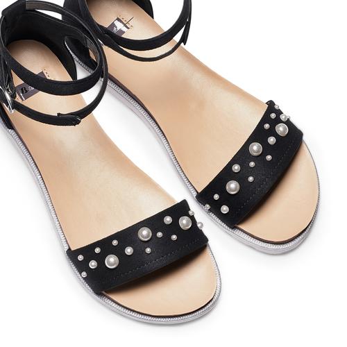 Sandali con perle bata, nero, 569-6356 - 26