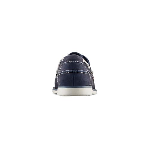 Scarpe da barca bata, blu, 854-9142 - 15