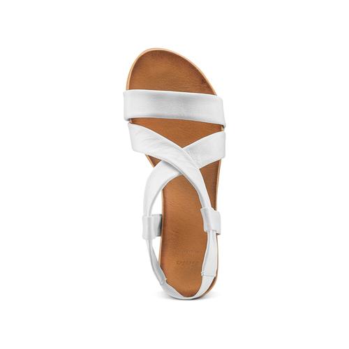 Sandali in pelle bata, bianco, 564-1443 - 17
