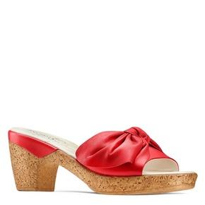 Ciabatte con tacco bata-touch-me, rosso, 664-5303 - 13