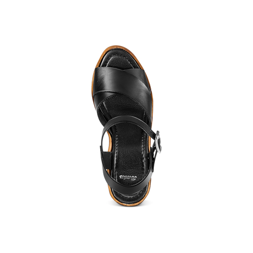 Sandali con zeppa bata, nero, 764-6226 - 17