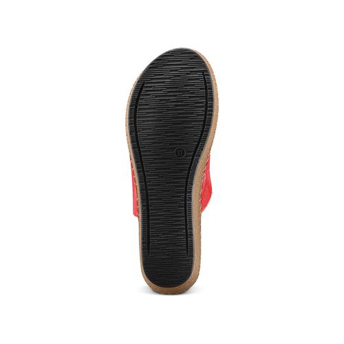 Ciabatte in vera pelle bata-comfit, rosso, 774-5107 - 19