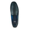 Mocassini in pelle bata, blu, 856-9151 - 17