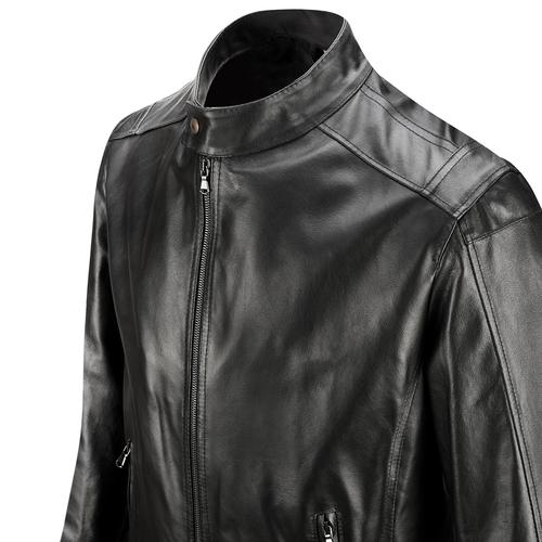 Giacca in pelle bata, nero, 974-6134 - 15