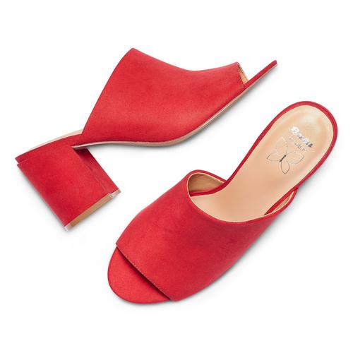 Mules con tacco insolia, rosso, 769-5277 - 26