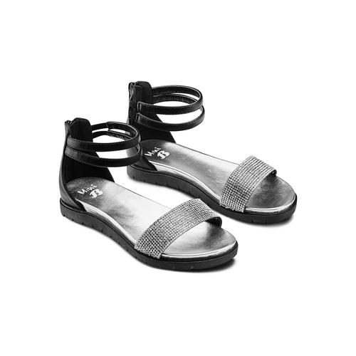 Sandali con strass mini-b, nero, 361-6166 - 16