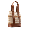 Shopper a righe bata, beige, 969-1301 - 13