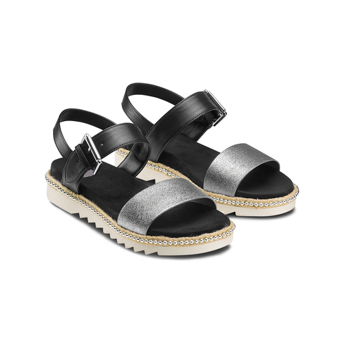 Sandali bassi bata, bianco, 561-1361 - 16