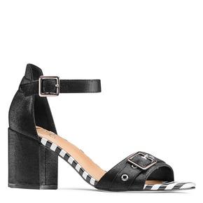 Sandali con tacco largo insolia, nero, 769-6245 - 13