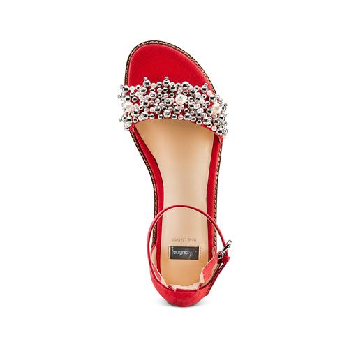 Sandali con cinturino bata, rosso, 569-5208 - 17