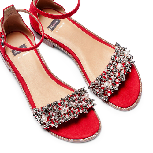 Sandali con cinturino bata, rosso, 569-5208 - 26