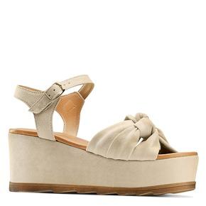 Sandali con fiocco bata, marrone, 763-3271 - 13