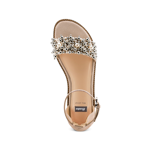 Sandali con cinturino bata, beige, 569-8208 - 17