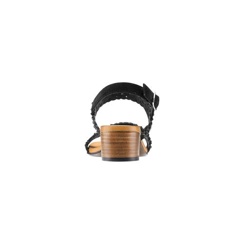 Sandali con strass bata, nero, 669-6280 - 15