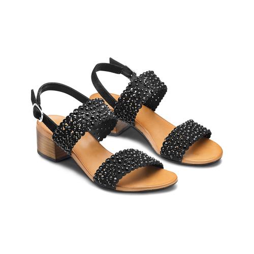Sandali con strass bata, nero, 669-6280 - 16