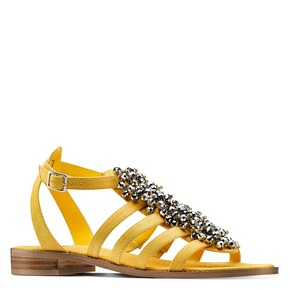 Sandali con perline bata, giallo, 569-0206 - 13