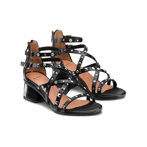 Sandali con borchie bata, nero, 664-6296 - 16