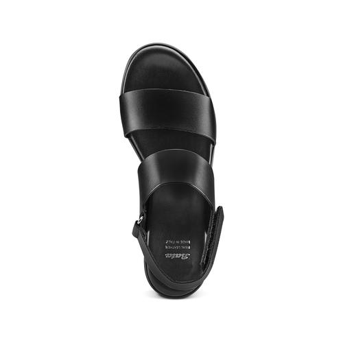 Sandali Platform bata, nero, 664-6230 - 17