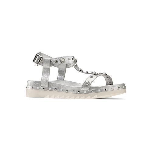 Sandali con strass mini-b, argento, 361-1237 - 13