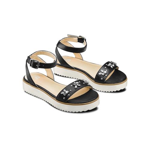 Sandali con applicazioni mini-b, nero, 361-6236 - 16