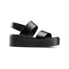 Sandali Platform bata, nero, 664-6230 - 13