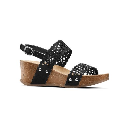 Sandali traforati bata, nero, 669-6356 - 13