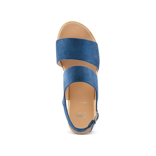 Sandali platform bata, blu, 663-9101 - 17