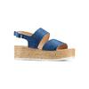 Sandali platform bata, blu, 663-9101 - 13