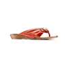 Infradito in pelle bata, rosso, 564-5318 - 13