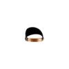 Ciabatte flat in pelle bata, nero, 564-6146 - 15