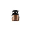 Sandali con zeppa bata, nero, 661-6357 - 15