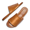 Ciabatte flat in pelle bata, marrone, 564-3146 - 26