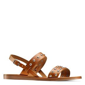 Sandali Flat bata, marrone, 564-3210 - 13