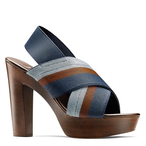 Sandali con tomaia elastica bata, blu, 779-9110 - 13