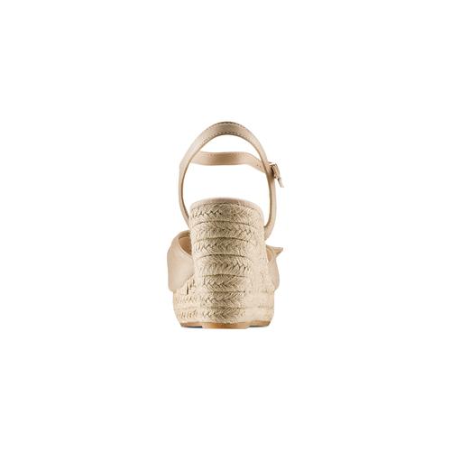 Sandali con applicazione bata, beige, 769-8237 - 15